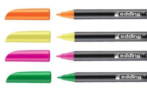 rotuladores fluorescentes edding de punta fina
