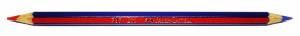 Tipos de subrayadores: lapicero bicolor rojo y azul