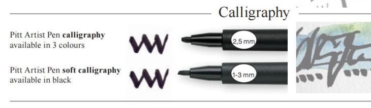 rotuladores para caligrafía Pitt Faber-Castell