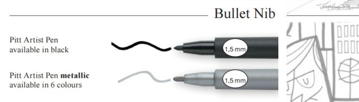 rotuladores pitt faber tipos de punta caligrafía y bala
