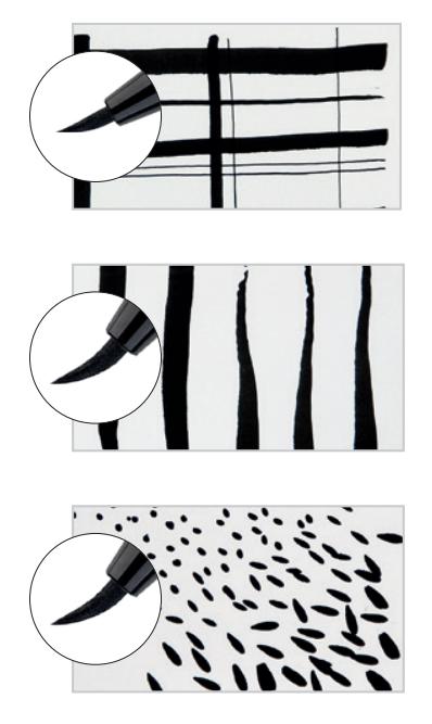 Rotuladores con punta de pincel para artistas y pintores