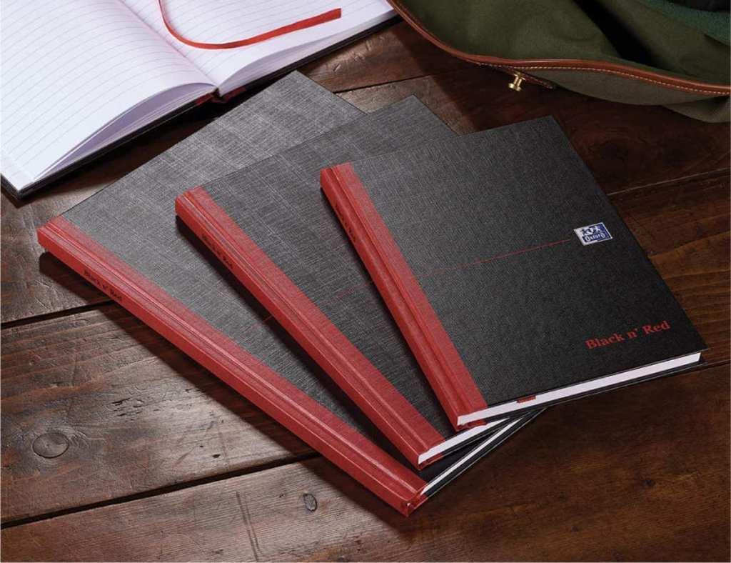 cuadernos Oxford black n Red